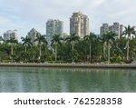 downtown building across yun... | Shutterstock . vector #762528358