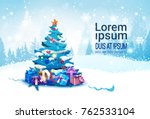 winter holidays banner with... | Shutterstock .eps vector #762533104