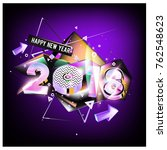 happy new year 2018 colorful...   Shutterstock .eps vector #762548623