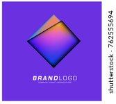 vector geometric logo design | Shutterstock .eps vector #762555694