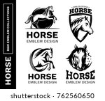 horse collections black and... | Shutterstock .eps vector #762560650