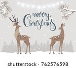 beautiful and cute cartoon two... | Shutterstock .eps vector #762576598