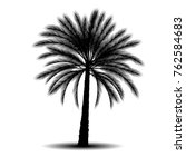 silhouette a palm tree with... | Shutterstock .eps vector #762584683