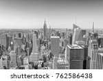 aerial view of midtown... | Shutterstock . vector #762586438