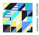 trendy geometric elements... | Shutterstock .eps vector #762592588