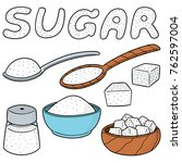 vector set of sugar | Shutterstock .eps vector #762597004