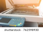 photocopier is a machine that... | Shutterstock . vector #762598930