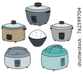vector set of rice cookers | Shutterstock .eps vector #762599704