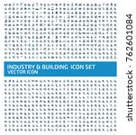 industry and building icon set... | Shutterstock .eps vector #762601084