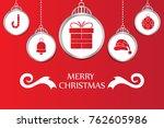 christmas background vector | Shutterstock .eps vector #762605986