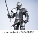 knight in silver armour | Shutterstock . vector #762608458