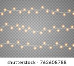 lights string bulbs isolated on ... | Shutterstock .eps vector #762608788