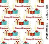 christmas seamless pattern...   Shutterstock .eps vector #762630406