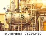 industry 4.0 concept image.... | Shutterstock . vector #762643480