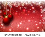 hanging christmas baubles on a... | Shutterstock .eps vector #762648748