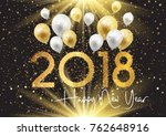 happy new year background with... | Shutterstock .eps vector #762648916