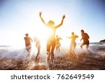 group of beautiful people... | Shutterstock . vector #762649549