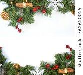 decorative christmas background ... | Shutterstock . vector #762650059