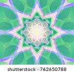 beautiful  retro kaleidoscope...   Shutterstock . vector #762650788