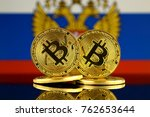 physical version of bitcoin and ... | Shutterstock . vector #762653644