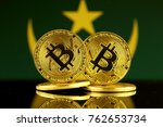 physical version of bitcoin and ... | Shutterstock . vector #762653734
