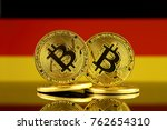 physical version of bitcoin and ... | Shutterstock . vector #762654310