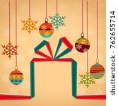 christmas red and green gift... | Shutterstock .eps vector #762655714