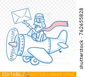 quick mail. fast delivery by...   Shutterstock .eps vector #762655828