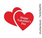 happy valentine hearts | Shutterstock .eps vector #762656494