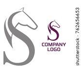 Stock vector horse vector logo template 762656653