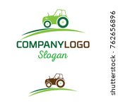 farmer vector logo template | Shutterstock .eps vector #762656896