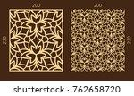 laser cutting set. woodcut... | Shutterstock .eps vector #762658720