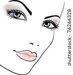 beauty girl face  beautiful... | Shutterstock .eps vector #76266328