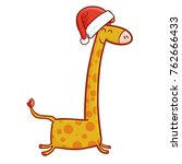 Cute And Funny Giraffe Running...