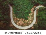 smiley road  curve road on top... | Shutterstock . vector #762672256