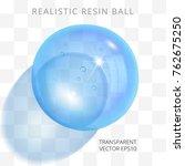 light blue transparent resin... | Shutterstock .eps vector #762675250