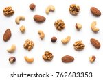 isolated nuts pattern backdrop. ... | Shutterstock . vector #762683353