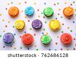 tasty colorful cupcakes on...   Shutterstock . vector #762686128