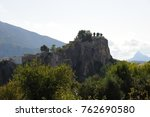 ruins of guadalest  costa... | Shutterstock . vector #762690580