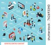 reporters isometric... | Shutterstock . vector #762693340