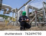 male worker inspection visual... | Shutterstock . vector #762694750