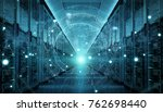 digital white earth network... | Shutterstock . vector #762698440
