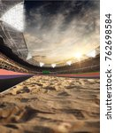 stadium and fans. track for... | Shutterstock . vector #762698584