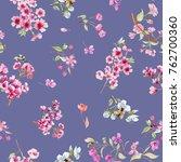 watercolor flowers. watercolor... | Shutterstock . vector #762700360