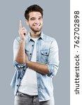 portrait of handsome young man... | Shutterstock . vector #762702898