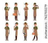 detective character vector.... | Shutterstock .eps vector #762703279