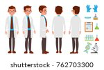 scientist character vector.... | Shutterstock .eps vector #762703300