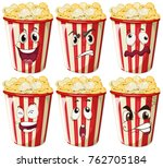 different facial expressions on ...   Shutterstock .eps vector #762705184