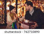 young beautiful cheerful couple ...   Shutterstock . vector #762710890
