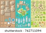vector set. summer vacation.... | Shutterstock .eps vector #762711094